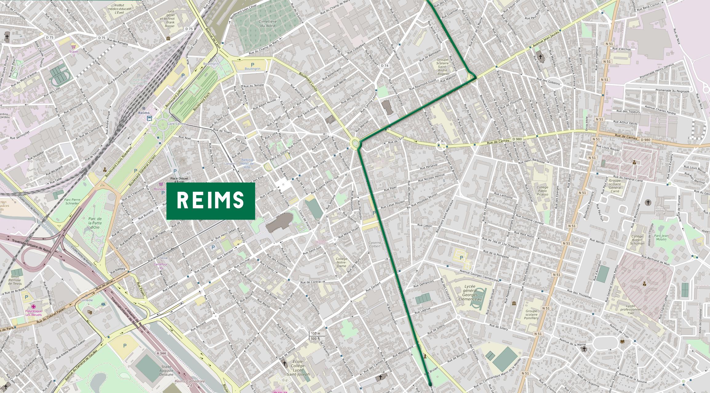 Plan de l'opréation de street markéting à Reims dans la Marnes, réalisée par Talacom agence de communication