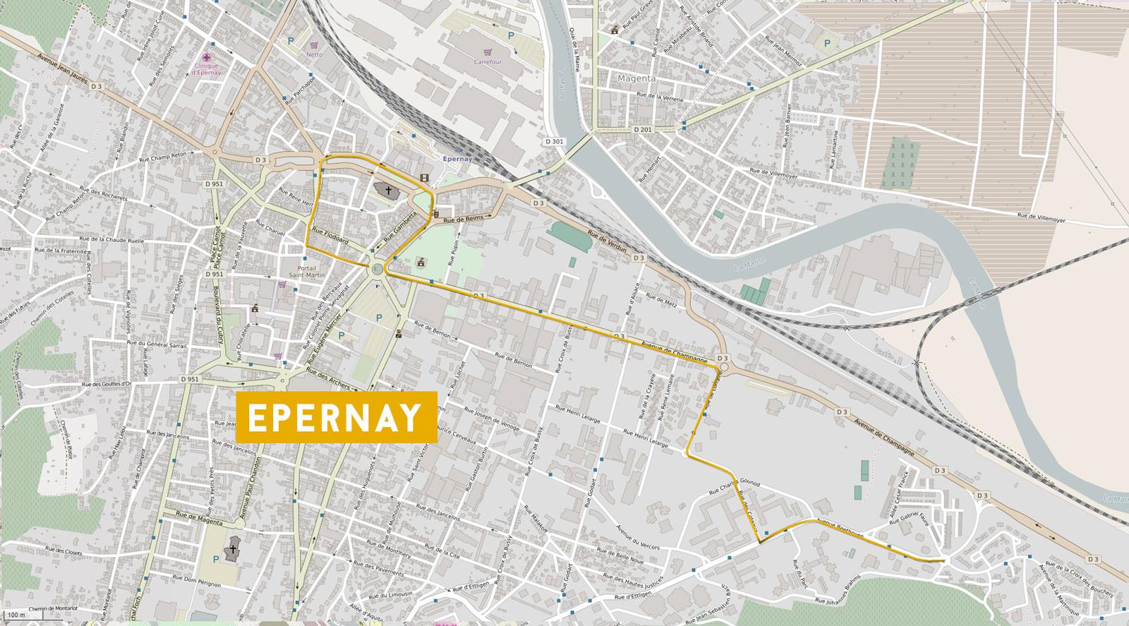 plan de la capagne de street marketing réalisée par l'agence de comminication Talacom à charleville Mézières